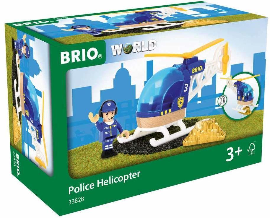 BRIO 63382800 Helikopter Policyjny (63382800) Bezpieczna Zabawka Dla Dzieci Powyżej 3 Lat