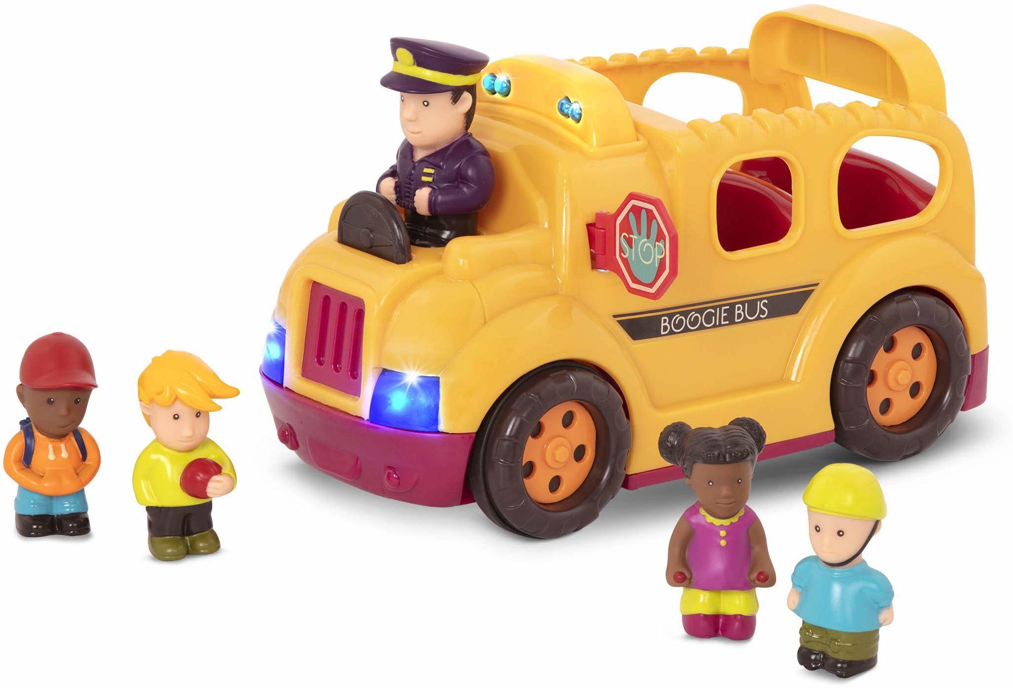 B. toys by Battat Boogie Bus  interaktywny autobus szkolny z 5 figurkami, światłami i dźwiękami dla dzieci od 18 miesięcy