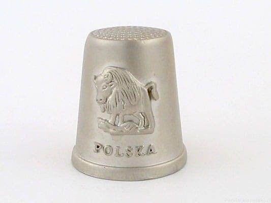Naparstek metalowy - Polska (żubr)