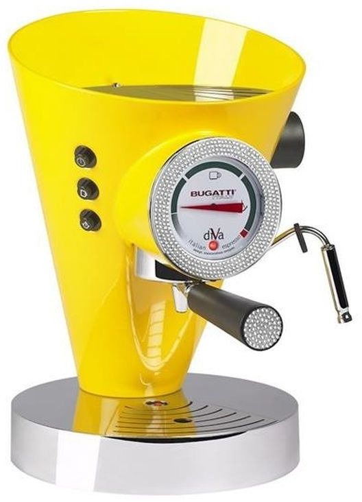 Casa bugatti - ekspres diva - 431 kryształów swarovski  na zegarze i uchwycie - żółty