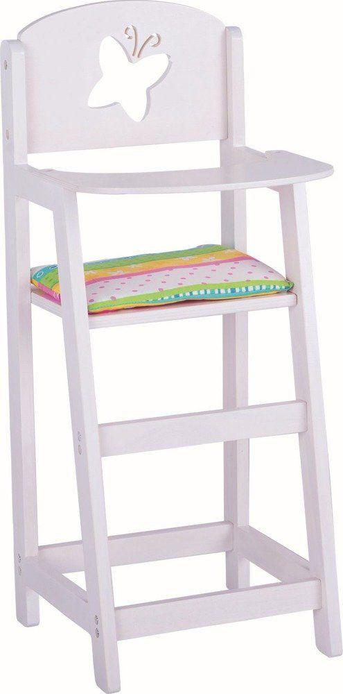 Białe krzesełko do karmienia lalki, Susibelle, 51657-goki, zabawki dla dziewczynek