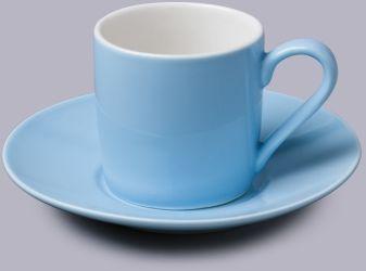 Filiżanka do espresso z talerzykiem Niebieska