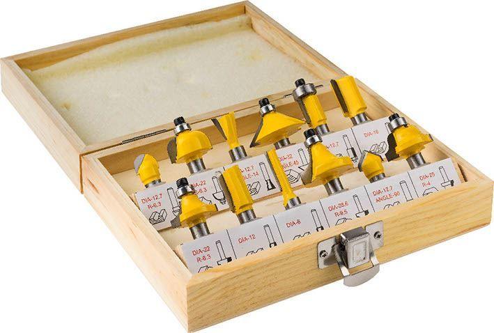 Zestaw frezów do drewna 12 szt. (CON-FR12)