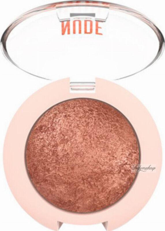 Golden Rose - NUDE LOOK - Pearl Baked Eyeshadow - Perłowy cień do powiek - 02 - ROSY BRONZE