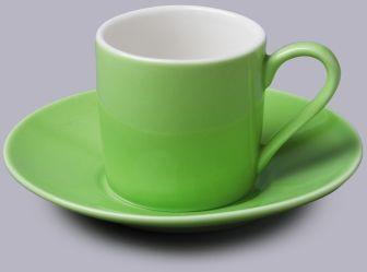 Filiżanka do espresso z talerzykiem Zielona