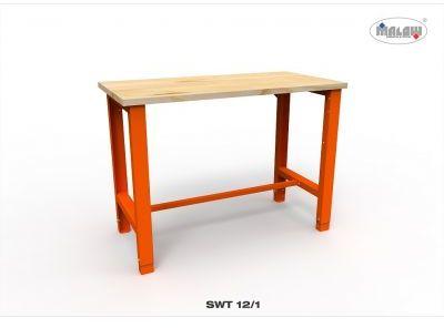 Stół warsztatowy SWT 12/01 z blatem roboczym o nośności 450 kg