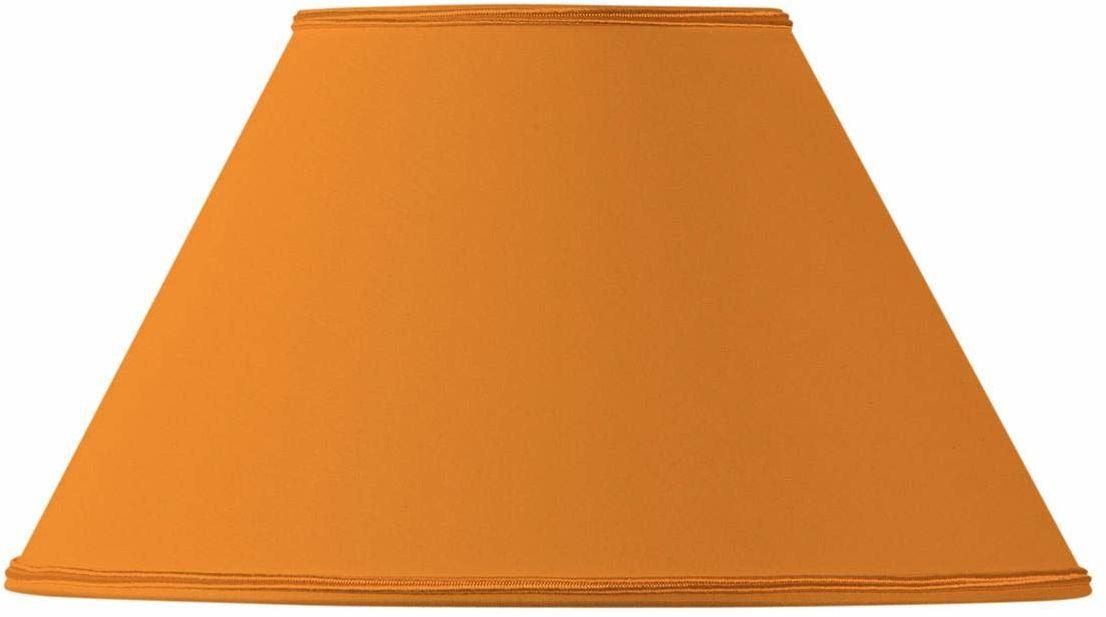 Klosz lampy w kształcie wiktoriańskim, średnica 25 x 11 x 15 cm, pomarańczowy