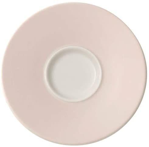 Villeroy und Boch Caffè Club Uni Pearl spodek do mokki/espresso, 12 cm, porcelana premium, biały/różowy