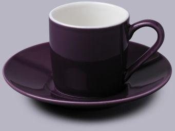 Filiżanka do espresso z talerzykiem Fioletowa