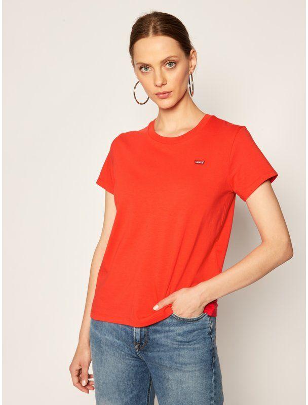 Levi''s  T-Shirt The Perfect Tee 39185-0100 Czerwony Regular Fit