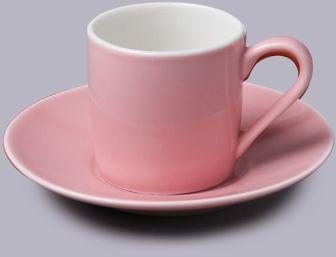Filiżanka do espresso z talerzykiem Różowa