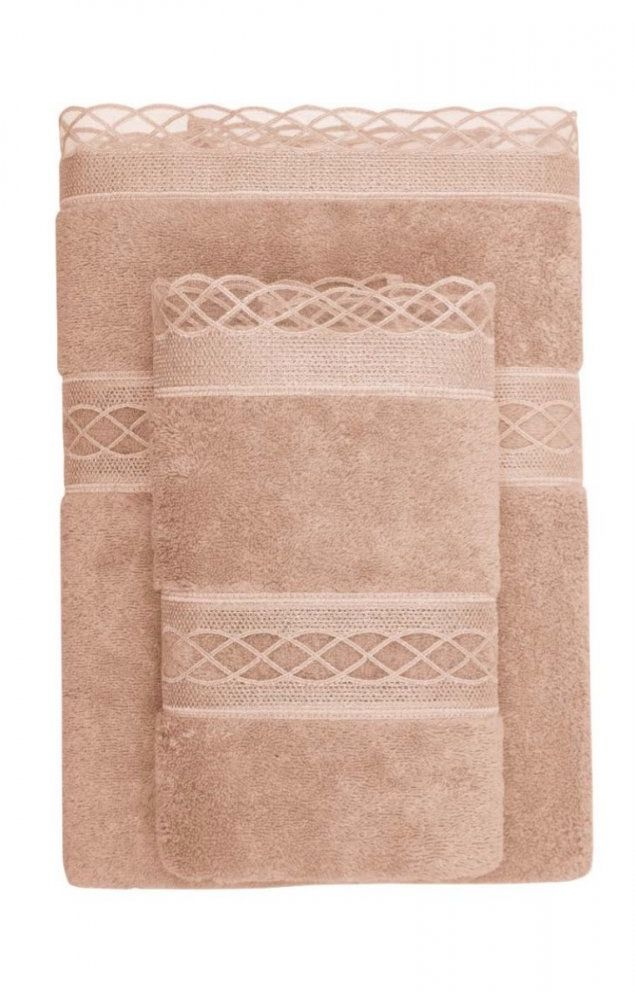 Ręcznik kąpielowy SELYA 85x150 cm Brąz
