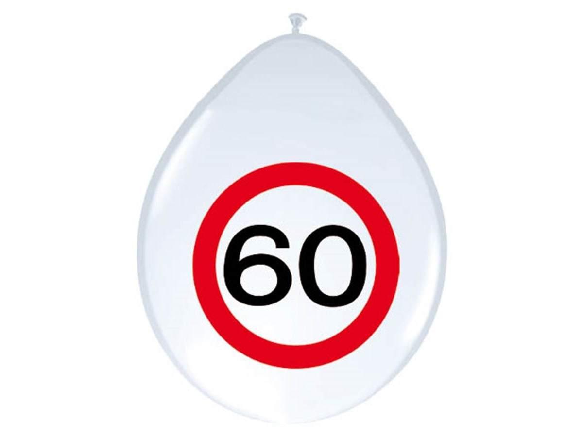 Balony Znak zakazu 60tka - 30 cm - 8 szt.