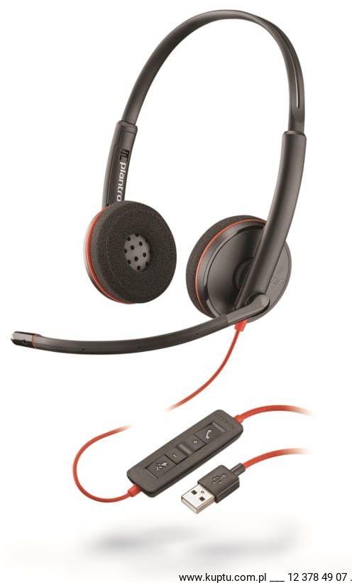 Blackwire 3220 przewodowy zestaw słuchawkowy USB A (209745-104)