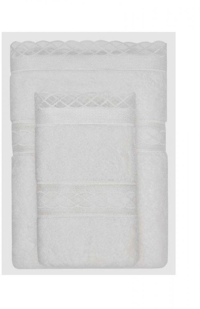 Ręcznik kąpielowy SELYA 85x150 cm Śmietankowy
