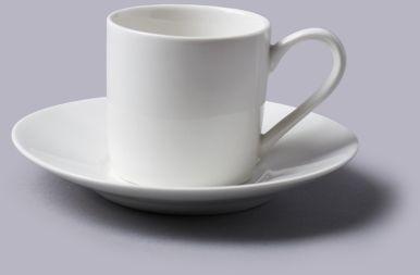 Filiżanka do espresso z talerzykiem Biała