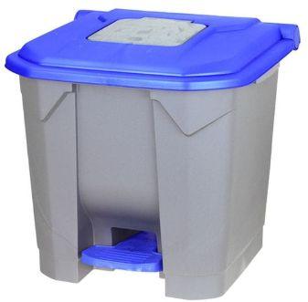 Kosz na odpady niebieski otwierany przyciskiem nożnym 30l Kosz na odpady medyczne, Kosz na śmieci pedałowy 30l