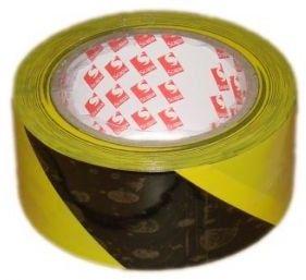Taśma samoprzylepna ostrzegawcza żółto-czarna