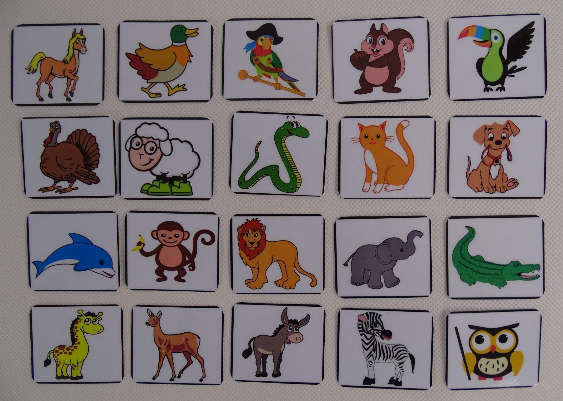 Znaczki rozpoznawcze do tablicy motywacyjnej / znaczki na szafkę zwierzątka i figury 40 szt.