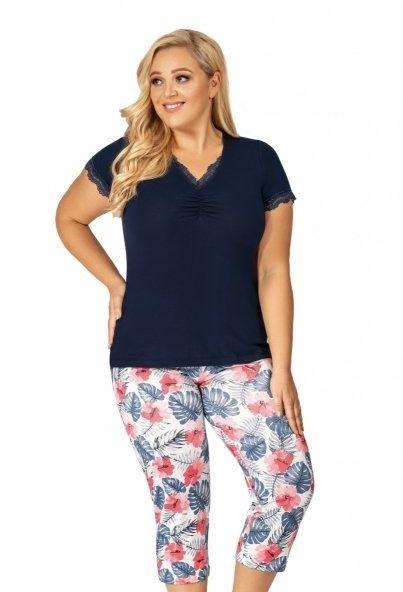 Piżama damska size plus mila 3/4 donna