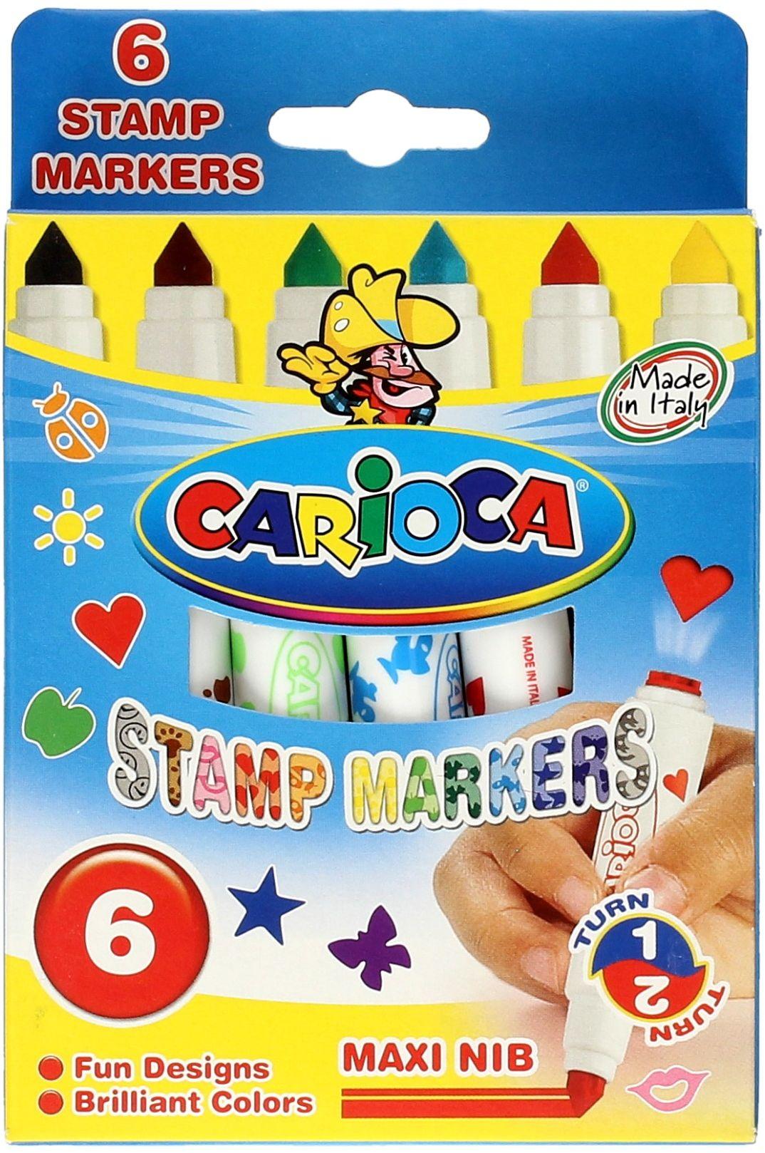 Flamastry 6kol stemple Carioca
