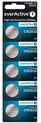 5 x bateria litowa mini everActive CR2032 blister