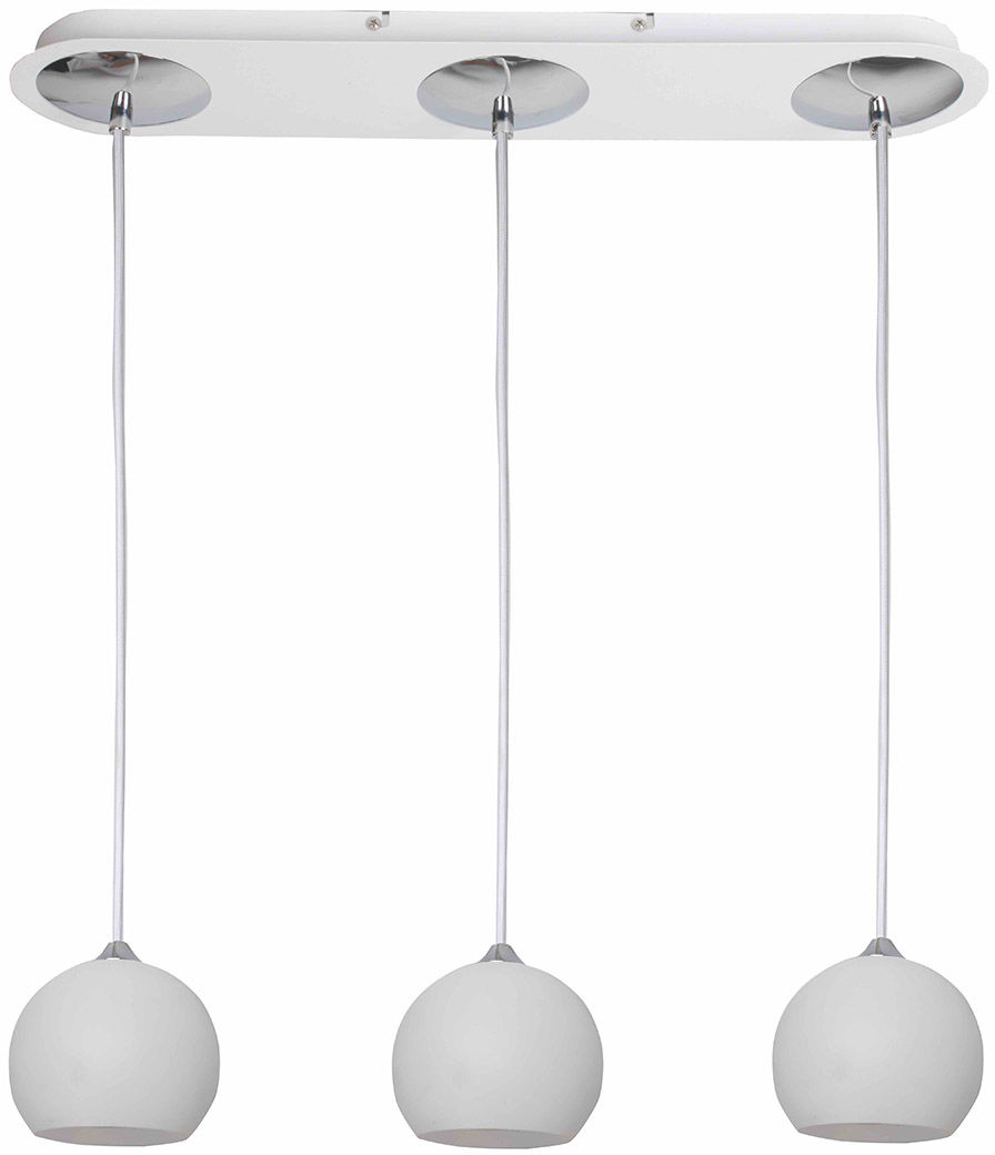Italux lampa wisząca James WH FH5953-ACA-120 WH biała potrójna 58cm