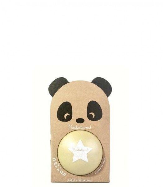 Ratatam - Piłka Mała 12 cm Panda Yellow