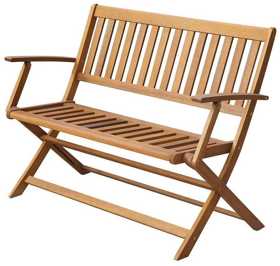 Drewniana ławka ogrodowa Rast - brązowa