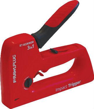 Zszywacz ręczny ABS Uniwersalny IMPACT Trigger 3w1 RAWLPLUG RT-KGR0030