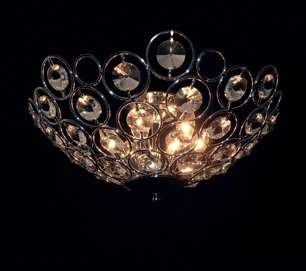 Italux plafon lampa sufitowa Kalila MX1203211-6A chrom kryształy 54cm