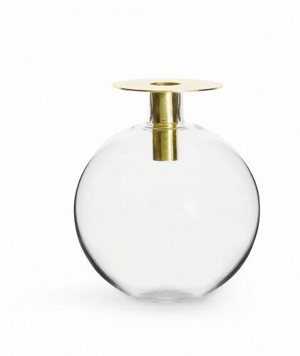 świecznik/wazonik, wys. 18 cm, złoty