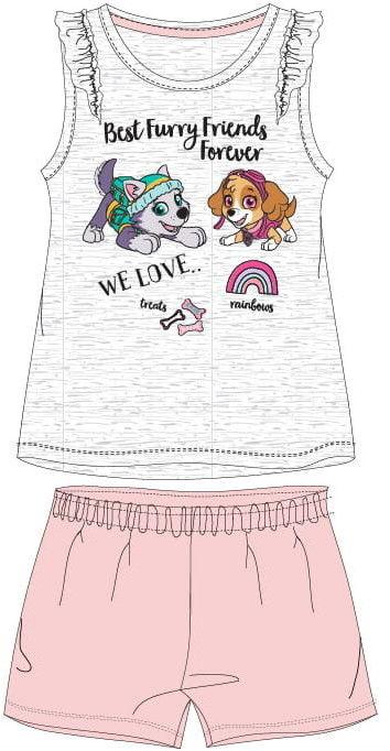 Piżama dla dziewczynki PSI PATROL szara