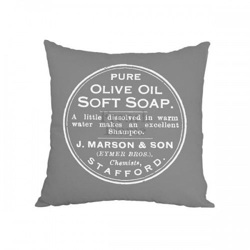 Poduszka ozdobna szara Olive