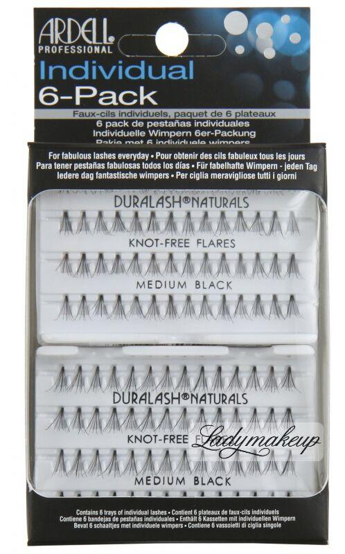 ARDELL - Individual 6-Pack - Zestaw 6 kompletów kępek rzęs - MEDIUM BLACK - 240584