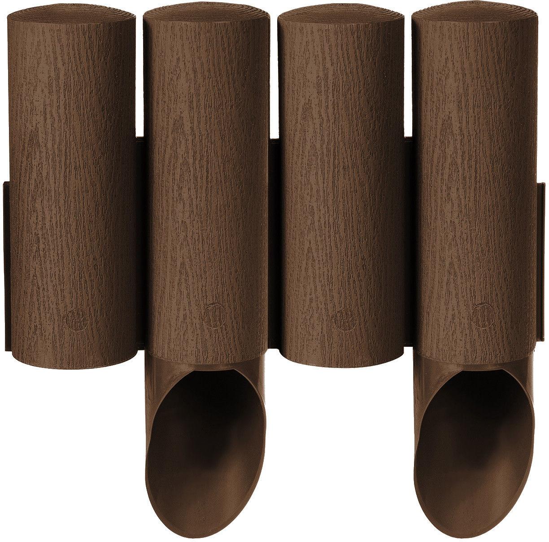 Palisada ogrodowa Cellfast Standard 4 brązowa