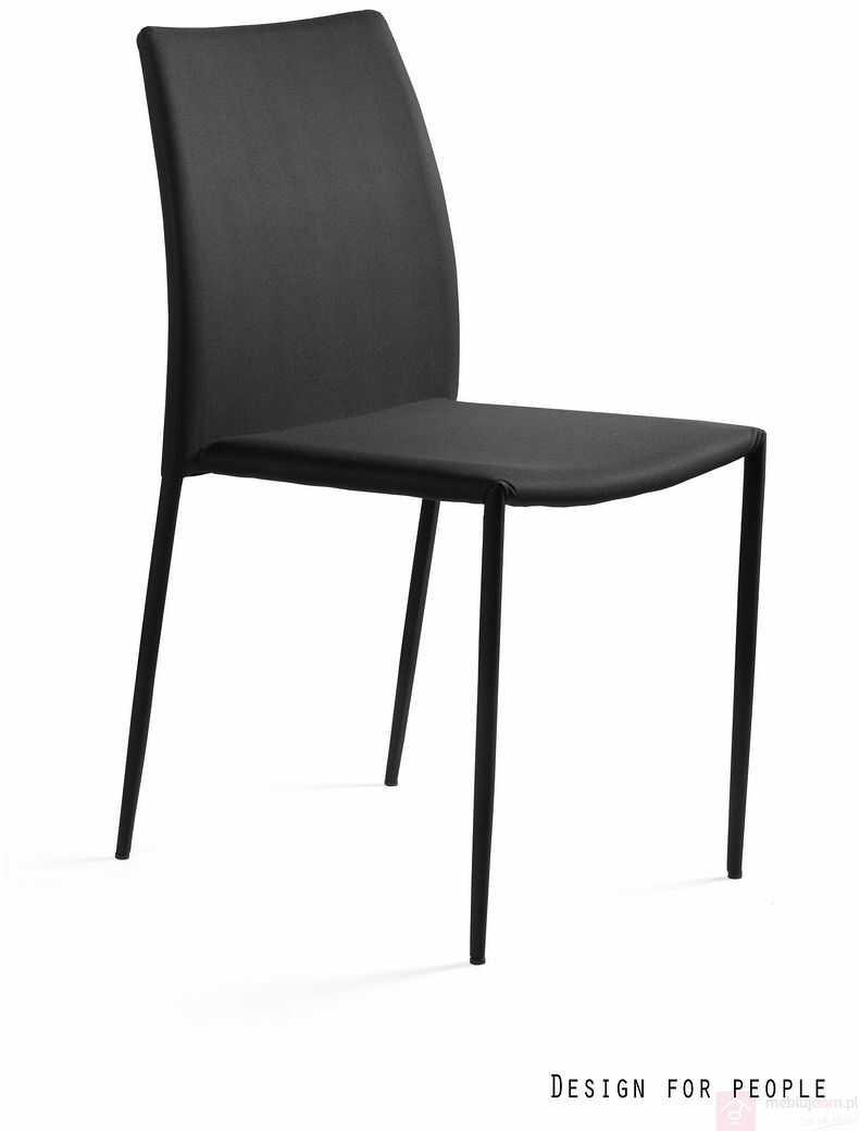 Krzesło DESIGN PVC Unique Czarny  RABAT na stronie!