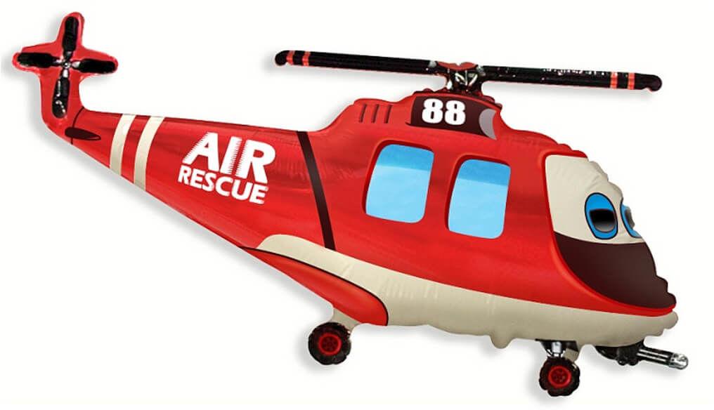 Balon foliowy Helikopter Ratunkowy - 61 cm - 1 szt.