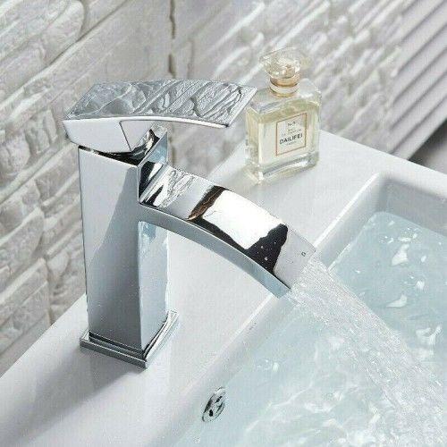 Bateria umywalkowa jednouchwytowa 19x14cm, srebro