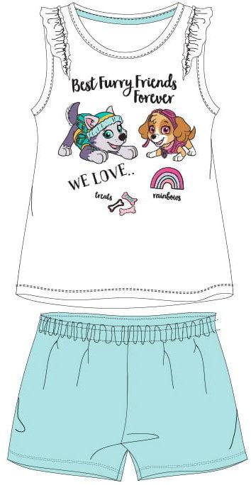 Piżama dla dziewczynki PSI PATROL biała