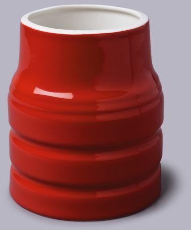 Ceramiczny pojemnik kuchenny - czerwony