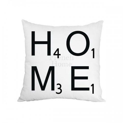 Poduszka dekoracyjna biała Home