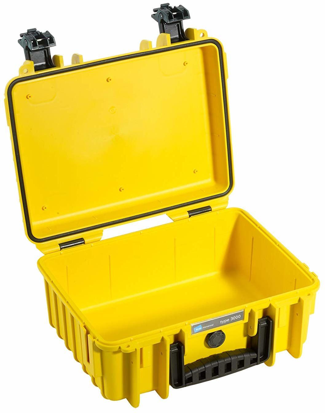B&W walizka transportowa Outdoor typ 3000 żółta  wodoszczelna zgodnie z certyfikatem IP67, pyłoszczelna, nietłukąca i niezniszczalna