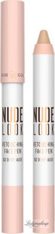Golden Rose - NUDE LOOK - Retouching Face Pen - Korektor do twarzy w kredce - 02 - DEEP NUDE