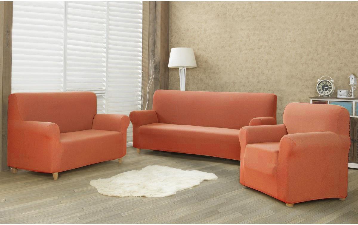 4Home Multielastyczny pokrowiec na kanapę 2-os. Comfort terracotta, 140 - 180 cm