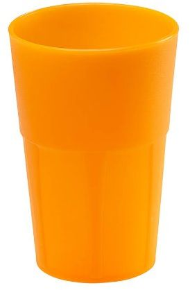 Mojito Design Pudełko na koktajle, tworzywo sztuczne, pomarańczowe fluo, 0,35 l, 6 sztuk