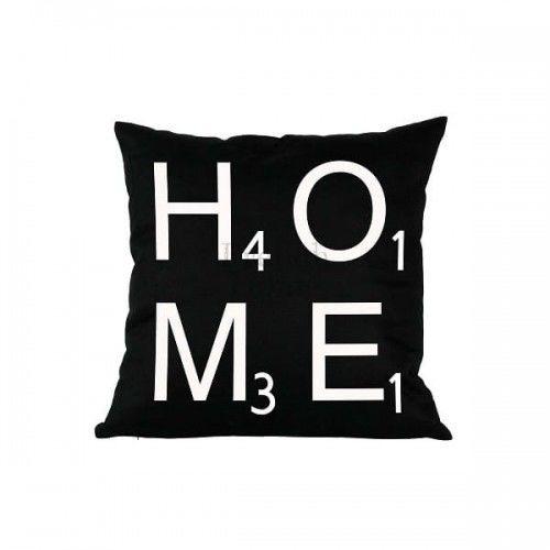 Poduszka dekoracyjna czarna Home