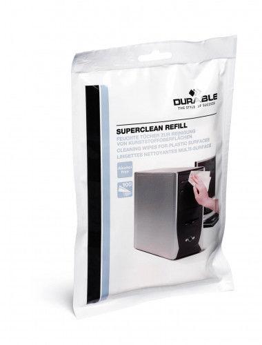 Ściereczki nawilżone Superclean Refill - białe / 1 szt.