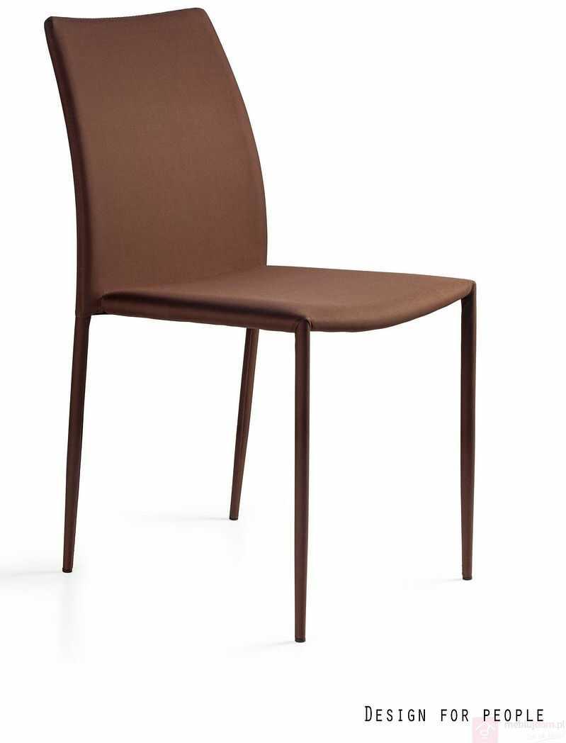 Krzesło DESIGN PVC Unique Brązowy  RABAT na stronie!