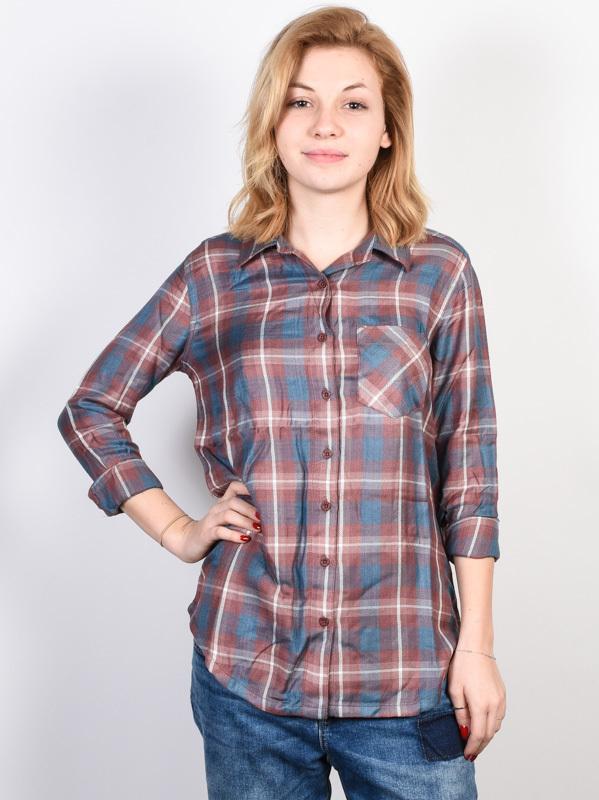 RVCA YORK RAISIN damskie koszulka z długim rękawem - S